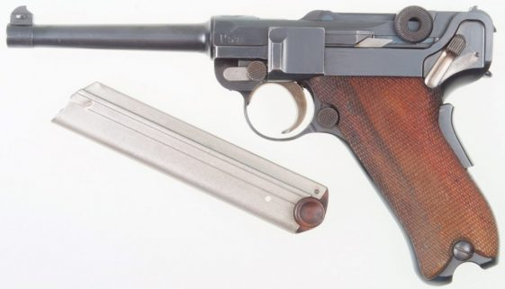 1906 Swiss Luger, Military, Cross in Shield