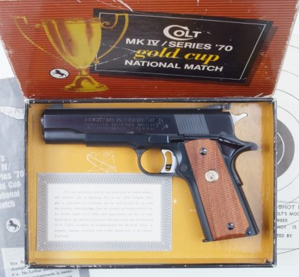Colt, Gold Cup, Series 70, National Match, Box.