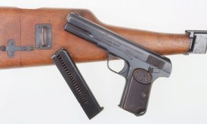 FN 1903 Pistol, Shoulder Stock Rig.