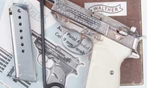 Walther P38, Factory Silver Engraved, Box.