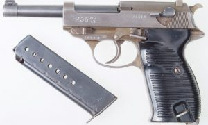 Walther P38, ac/43, FN Slide,  French.