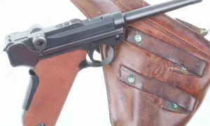 Attractive Swiss Bern M1929 Luger Red Grip Military
