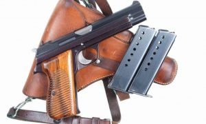 Gorgeous Swiss SIG, P49, Rig, High Polish, Military, holster and spare magazine, I-672