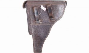 Very Rare Pigskin German, Luger, Military, Holster, X-136