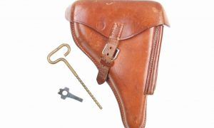 German Luger Holster, Finnish Commercial, SA Marked Tool, Rod, X-123