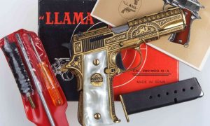 Llama, Model III-A, Gold Damascened, A-1443