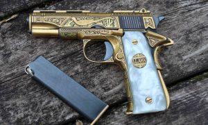 Llama Mod III-A, Gold Damascened, 550727, A-1462
