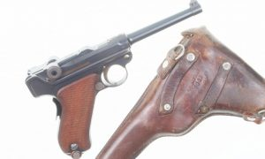 1906 Swiss Luger, Military, Cross in Shield, Holster, 10098, I-305
